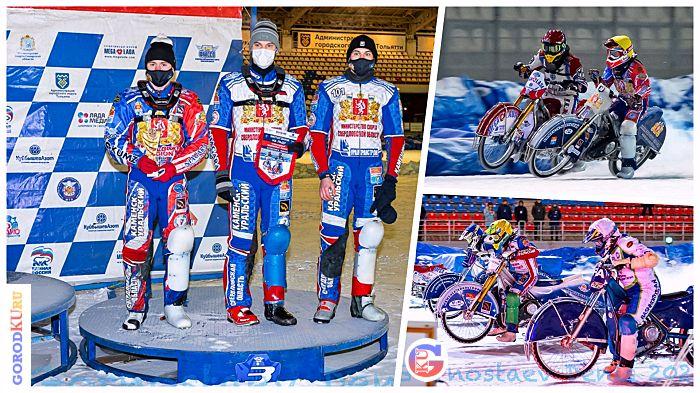 Наши гонщики — бронзовые призеры Командного Чемпионата России по мотогонкам на льду в Суперлиге