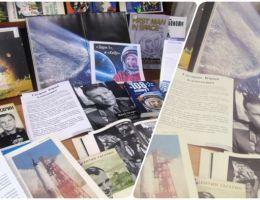 Выставка ко Дню космонавтики проходит в городской библиотеке