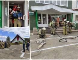 Пожарные проводят учения в оздоровительных лагерях