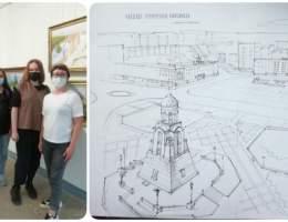 Экскурсия по Выставочному залу для волонтеров Каменска-Уральского