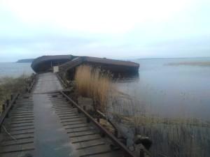 Старая пристань в Пачково