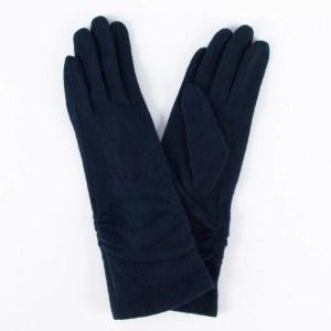 Перчатки женские цвет темно- синий  [LG02-0499]