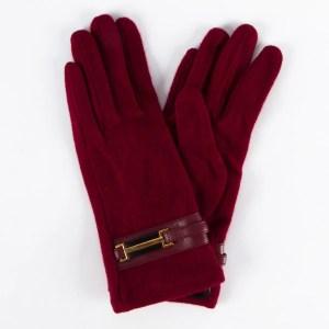Перчатки женские цвет бордовый [LG69-13]