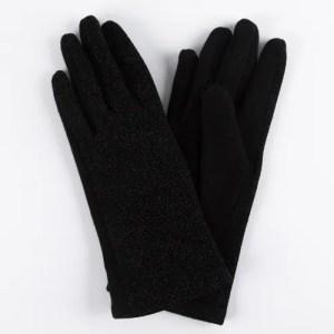 Перчатки женские цвет черный с люрексом [LG06-01]