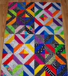 4 at a time HST Half Square Triangles Charm Squares
