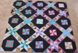 Pinwheel batik two blocks star gradient gradiant fabric