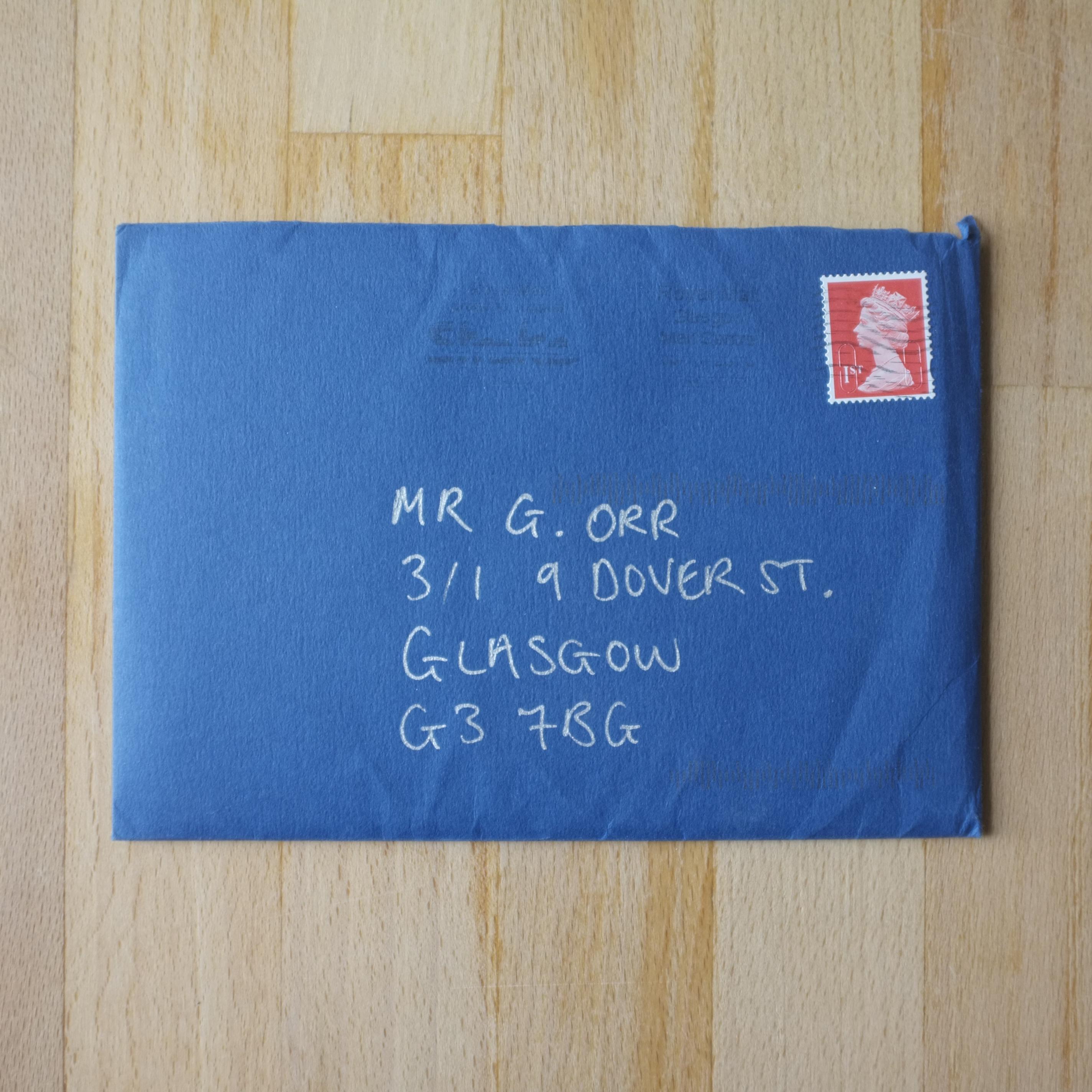 Cottiers wedding envelope