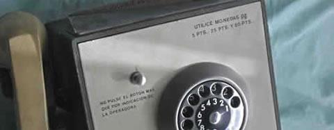 Cabina de teléfonos de los años 60