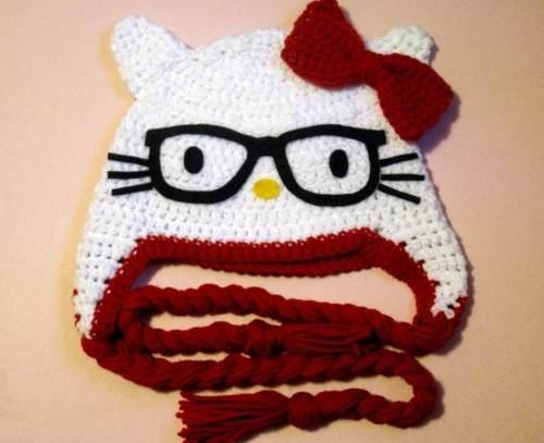 9 Bellos gorros tejidos al crochet de kitty Gorros Tejidos 7d342ad88c7