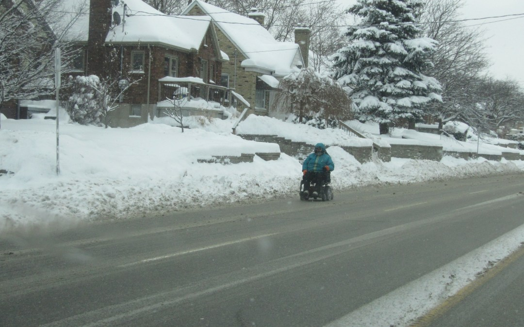 MEDICAL SCOOTERS POSE A SAFETY PROBLEM WHEN SNOW FALLS