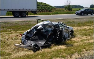 Highway 401 Rear-End Impact of Stopped Vehicle Could Have Been Fatal