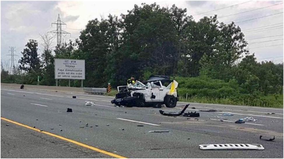 Fatal Impact  of Median Barrier Not Mentioned in Hwy 403 Crash in Mississauga Ontario