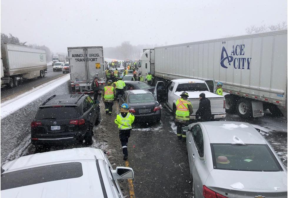 Automatic Emergency Braking Needed To Prevent Multi-Vehicle Crashes