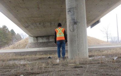 Hwy 402 Fatal Impact of Unprotected Overpass Pillar – Review of Evidence