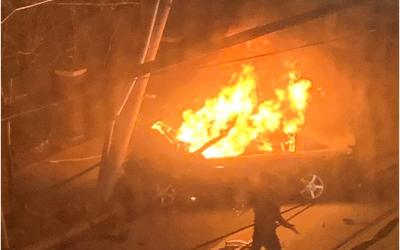 Vehicle Fire Warning Continues