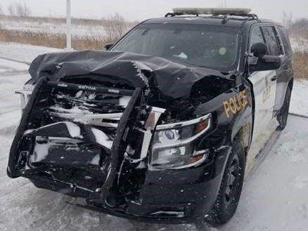 Unexplained Frontal Crush to OPP SUV in Unidentified Collision