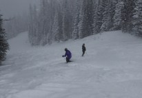 Mission Ridge storm riding - this is a groomer :)