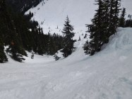Ski area boundary creek! Fantastic run