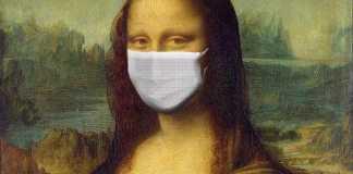 Mona lisa maske ile