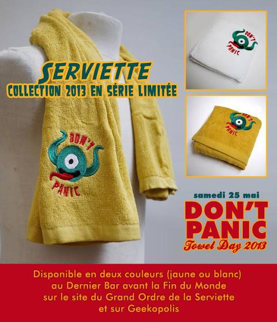 La Serviette du Towel Day 2013 disponible!