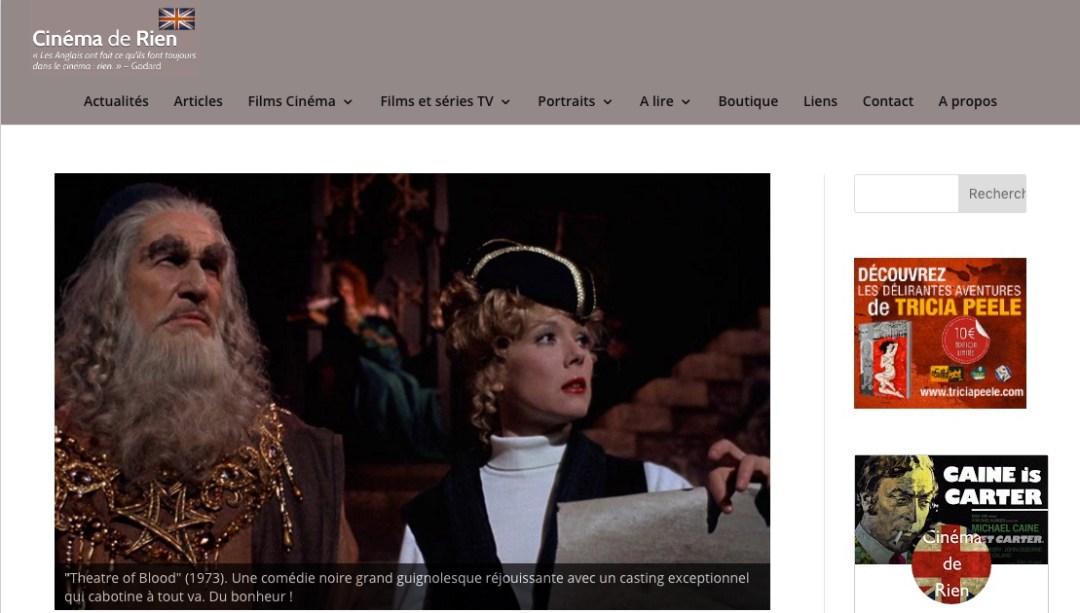 Cinéma de rien, site consacré au cinéma et à la télévision britanniques