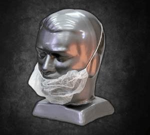 Disposable Beard caps: Disposable Beard Covers, 100 per Pack