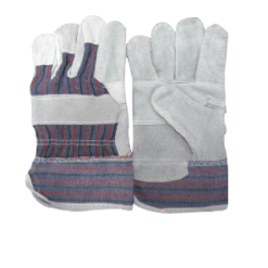 Candy Stripe Chrome: Chrome candy back glove with safety cuff