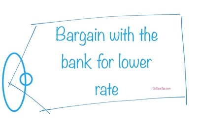 Bargain with bank for lower interest rate