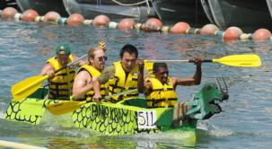 Heber Springs Cardboard Boat Races on Greers Ferry Lake