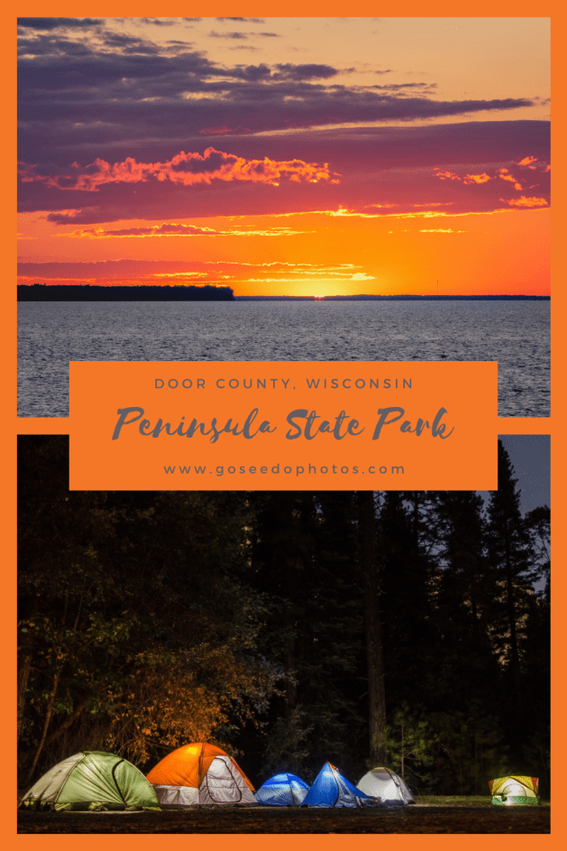 Peninsula State Park Pinterest Graphic