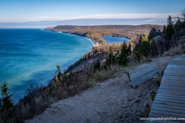 Empire Bluff Trail in the Shade