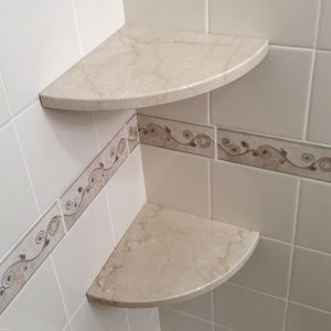 5 tile shower shelf ideas to try with