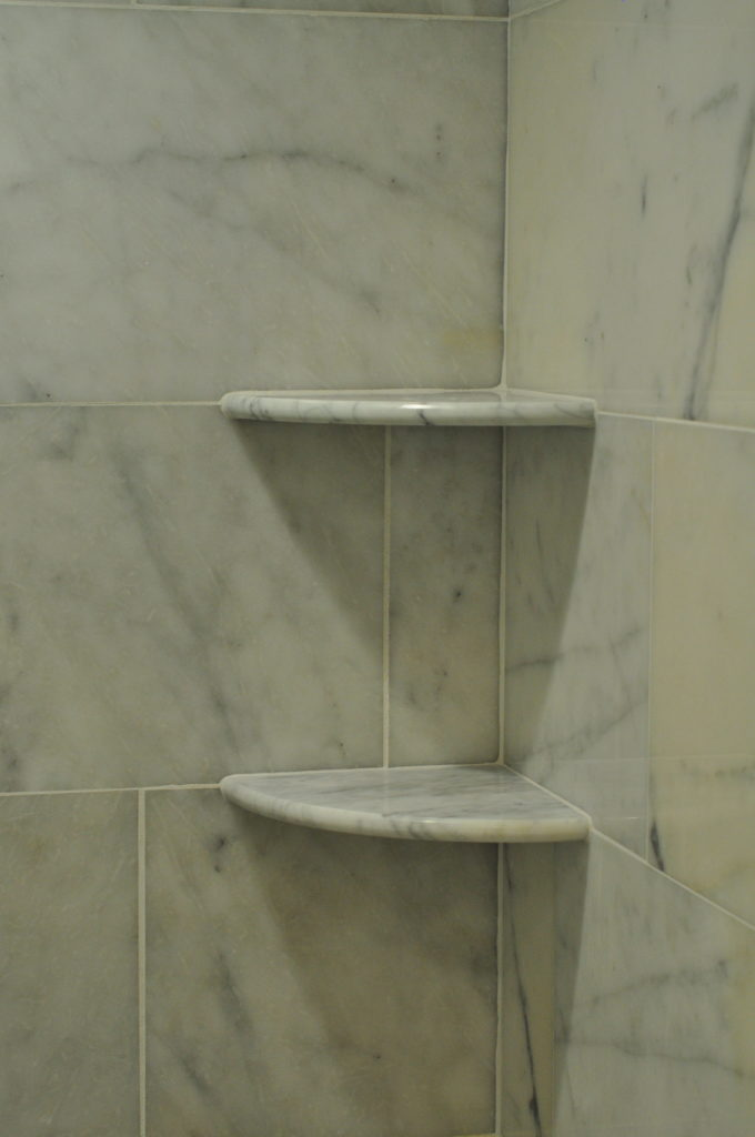 how to install tile shower accessories