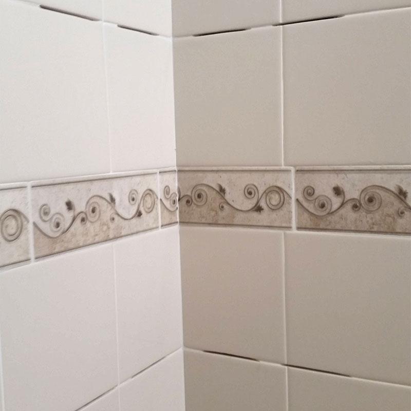 tile shower shelf insert quickly