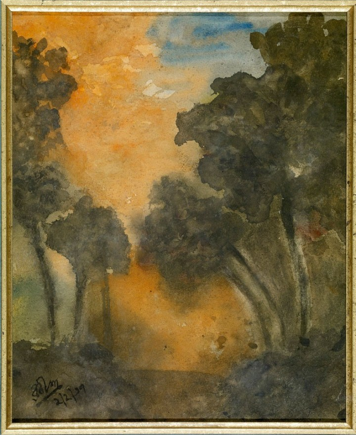 Landscape by Rabindranath Tagore, 1937