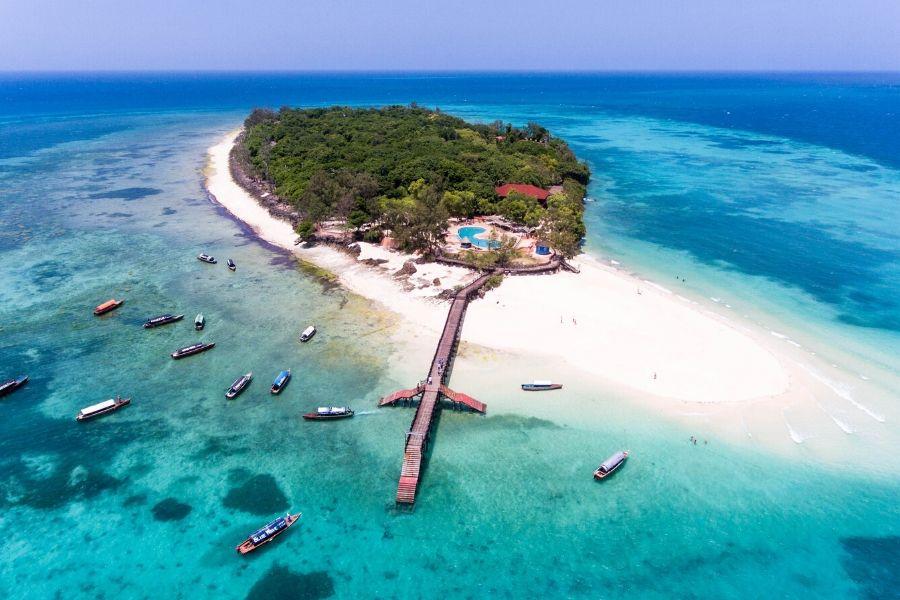 Prison Island Aerial View. Guide to Diving in Zanzibar Where To Go. Gosheni Safaris