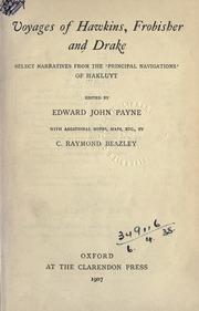 Voyages of Hawkins, Fribisher and Drake- Edward John Payne (editor) book
