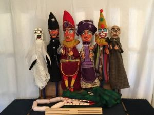 Victorian original style Punch and Judy Puppets