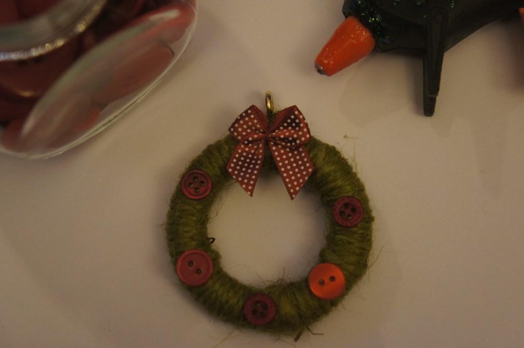 Mini wreath finished