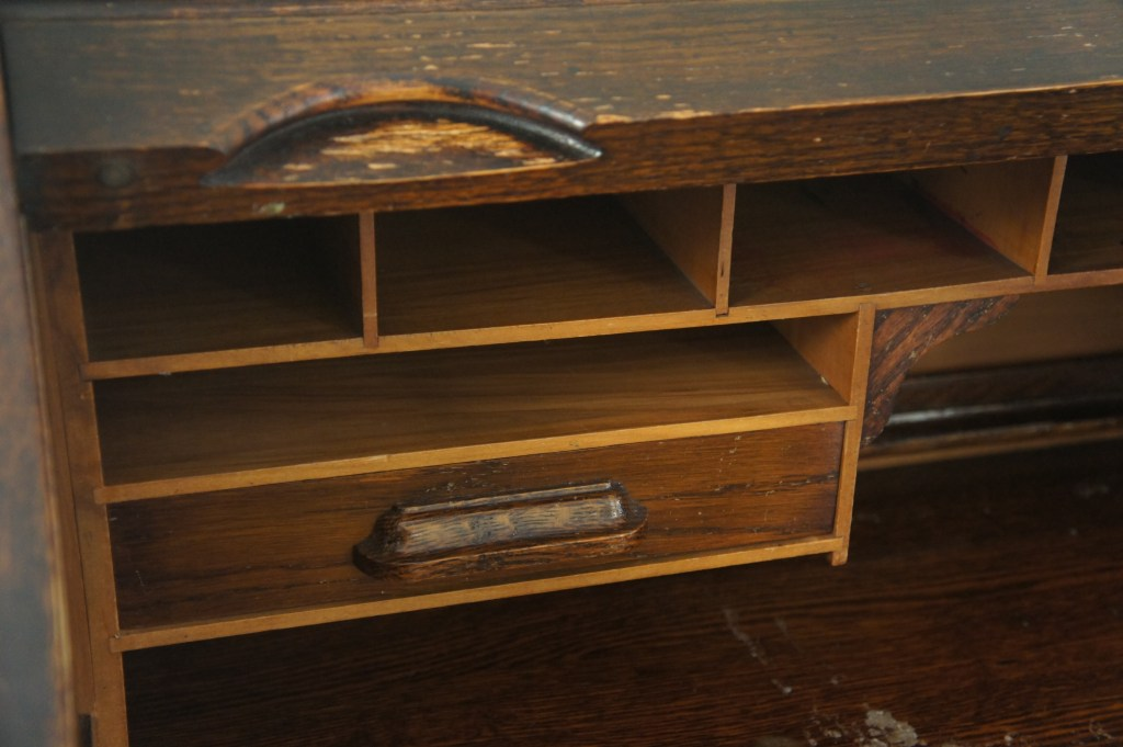 Roll top desk cubby holes