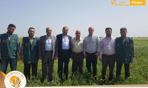 زيارة رئيس الحكومة السورية الدكتور جواد أبو حطب إلى فرع المؤسسة العامة لإكثار البذار في ريف حلب الشمالي
