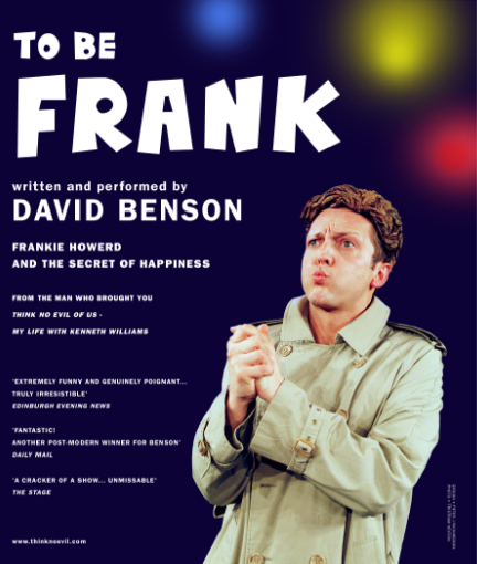To Be Frank - Original poster (design David Benson with Peter Richardson)