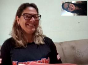 Screen capture of Malu studying the Bible with Cristiane