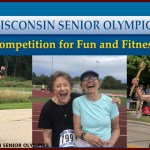Wisconsin Senior Olympics web banner and photos of athletes