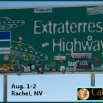 Photo of extraterrestrial highway sign by calico racing