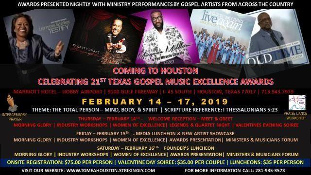 Texas Gospel Music Excellence Awards | Gospel Clipboard