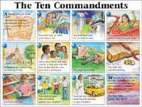 chart ten commandments niv the laminated