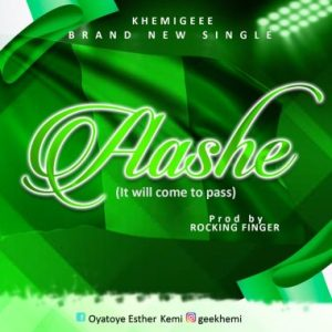 DOWNLOAD MP3: Khemigeee – Aashe (It Will Come To Pass)