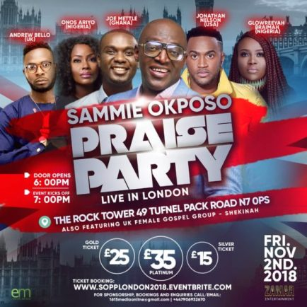 Image result for sammie okposo praise party london