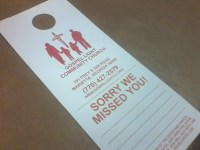 Door Hangers to be used for Evangelism and Outreach